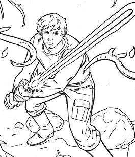 Luke Skywalker On Dagobah Coloring Page