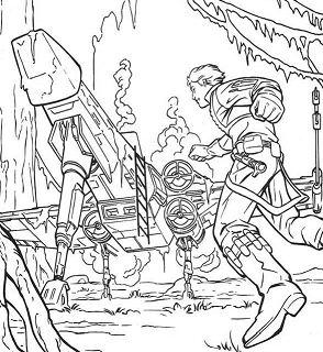 Luke Spaceship On Dagobah Coloring Page