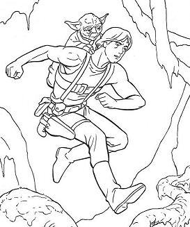 Luke Training With Yoda