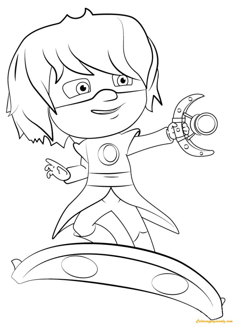 Pj masks coloring sheets printable - Luna Girl