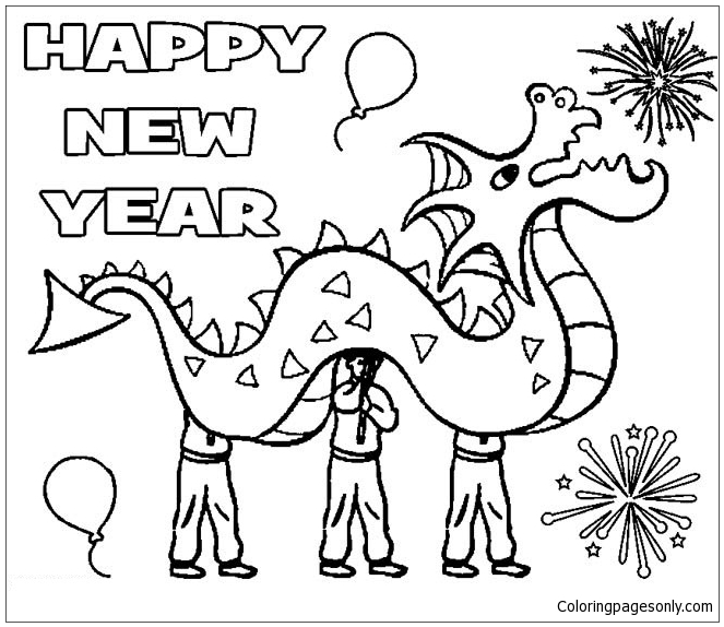 Luxury Chinese New Year Coloring Page