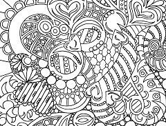 Luxury Hard Coloring Page