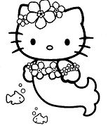 Luxury Hello Kitty Mermaid Coloring Page