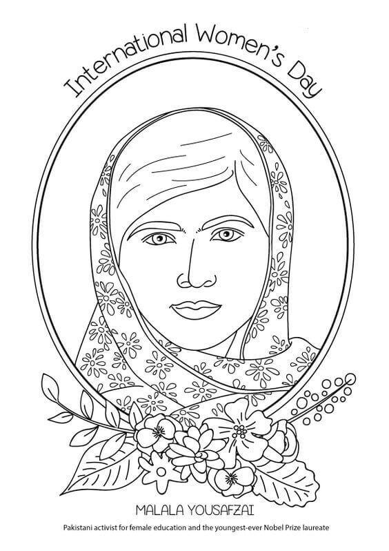 Madala Yousafzai Coloring Page