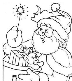 Magic Stick Santa Coloring Page