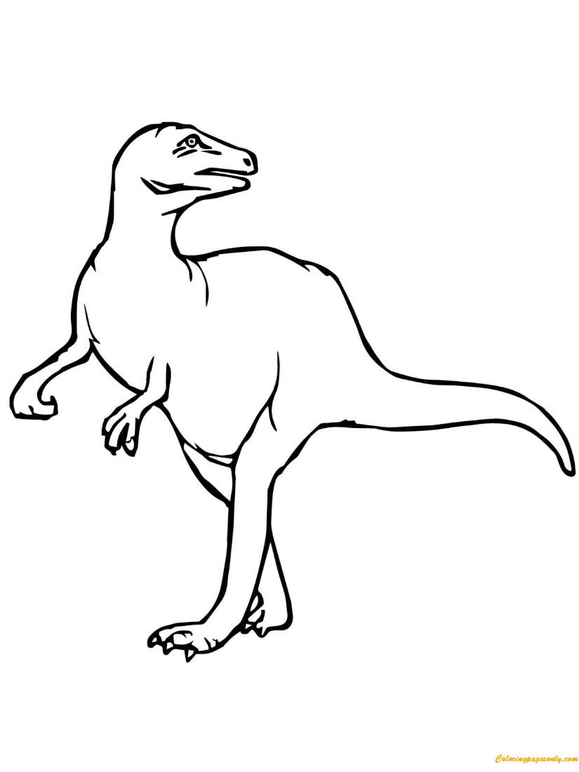 Maiasaura Dinosaurs Coloring Page