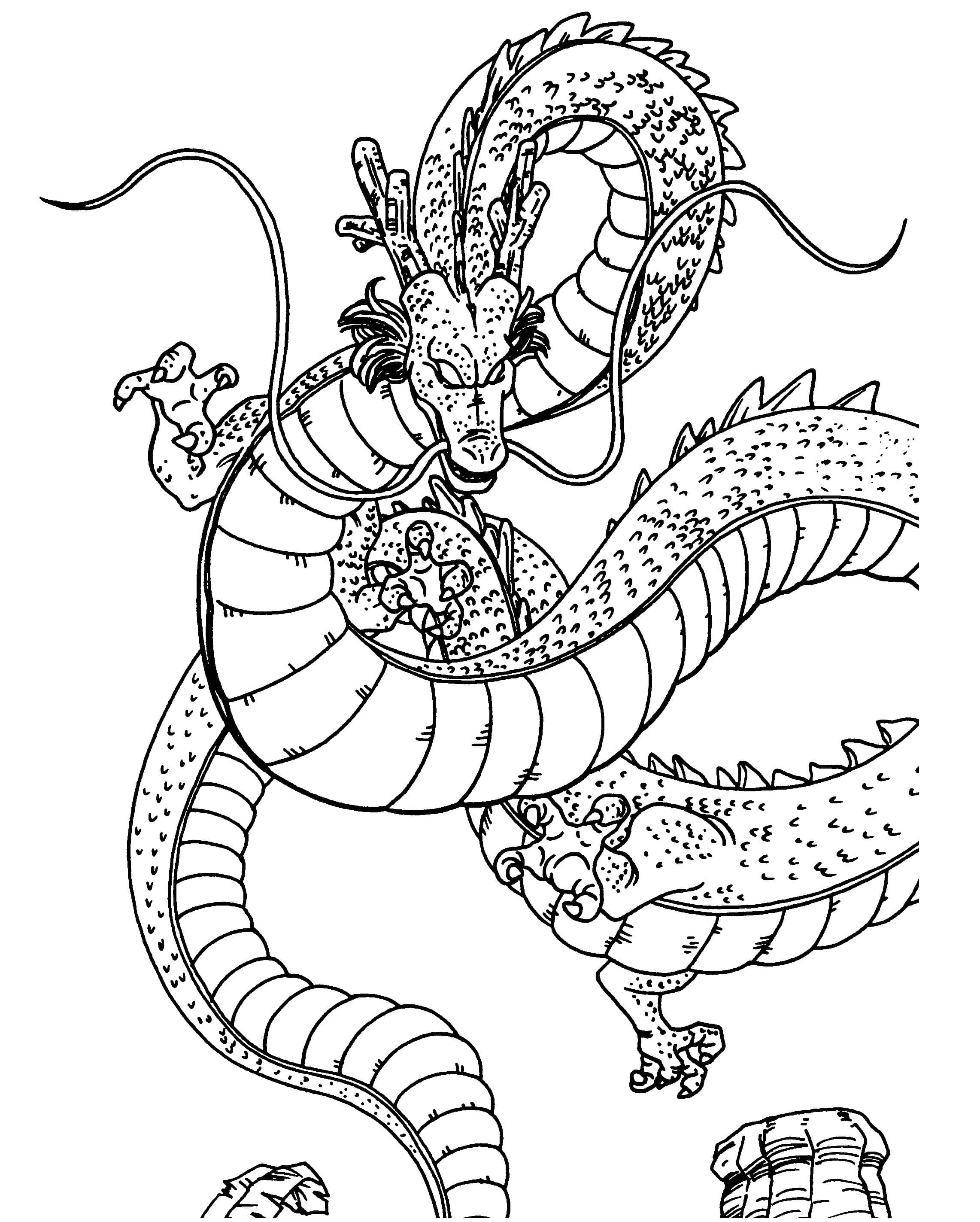Make a wish to the dragon Coloring Page