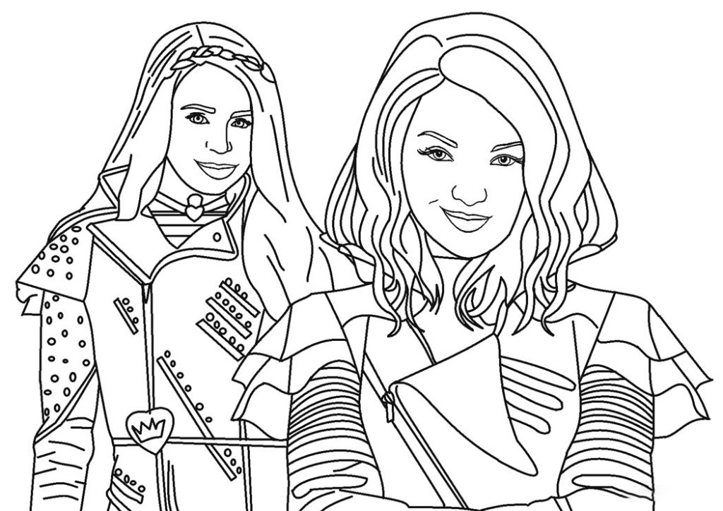 Mal and Audrey Coloring Page