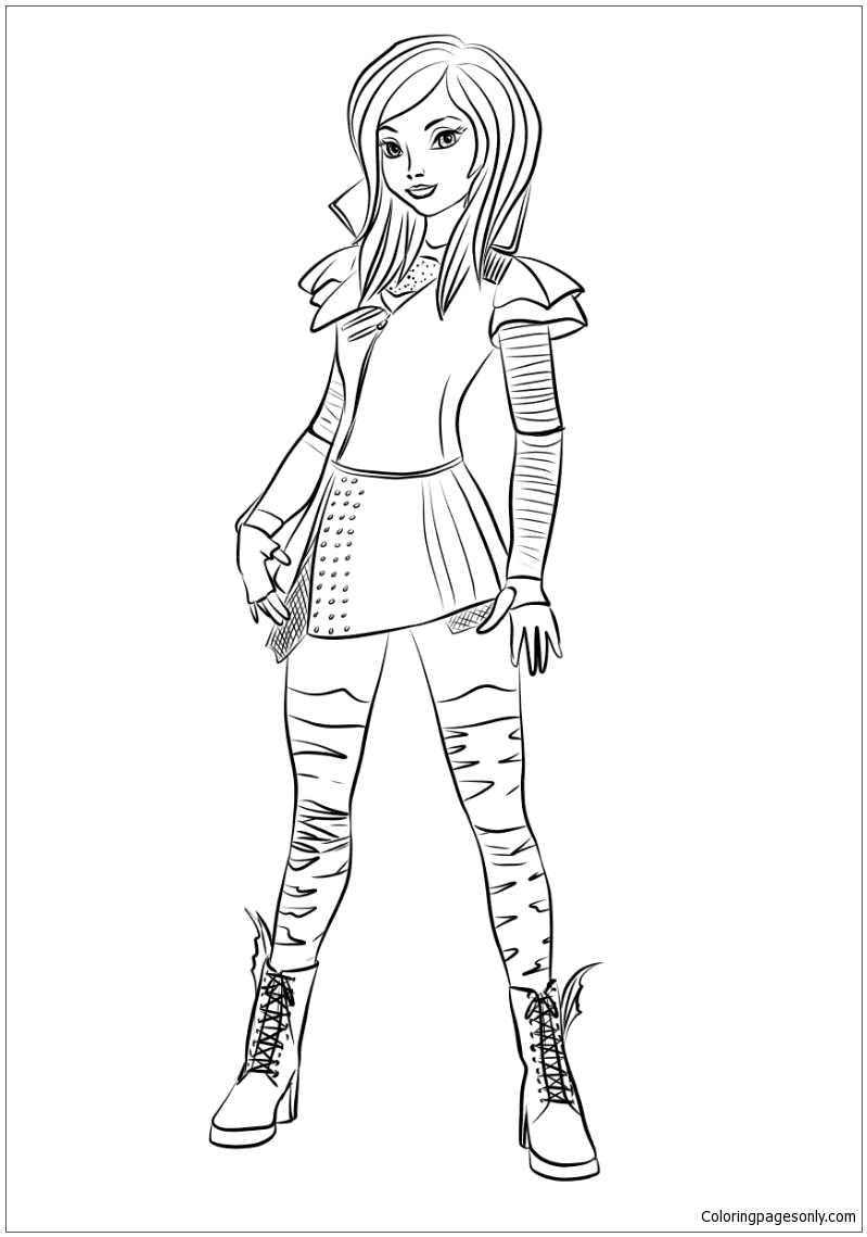 Descendants 2 Uma coloring page | Free Printable Coloring Pages | 1139x799