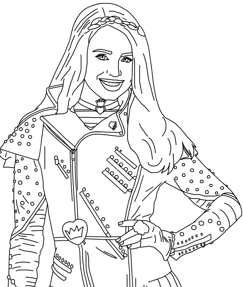 Evie Smile Coloring Page