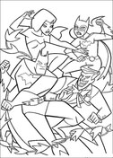Batman Fight from Batman Coloring Page