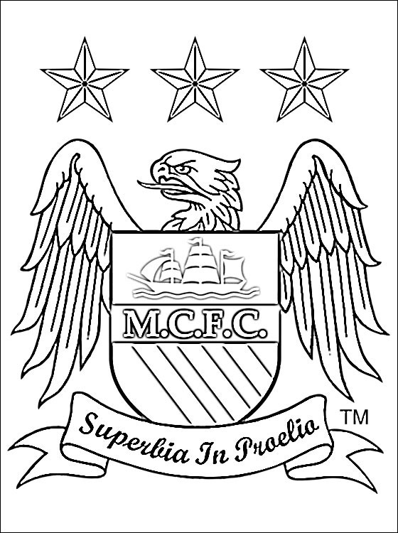 Manchester City F.C Coloring Page