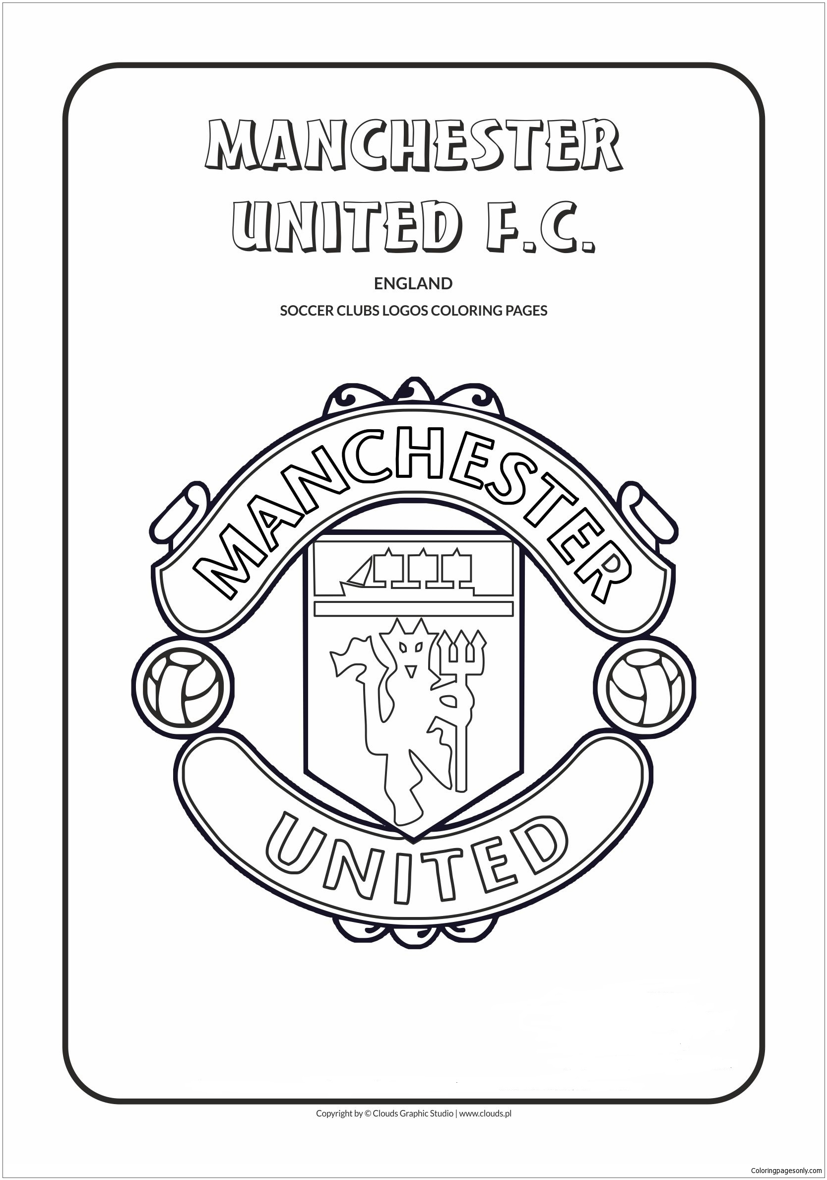 Manchester United F C Coloring Pages England Premier League Team Logos Coloring Pages Coloring Pages For Kids And Adults