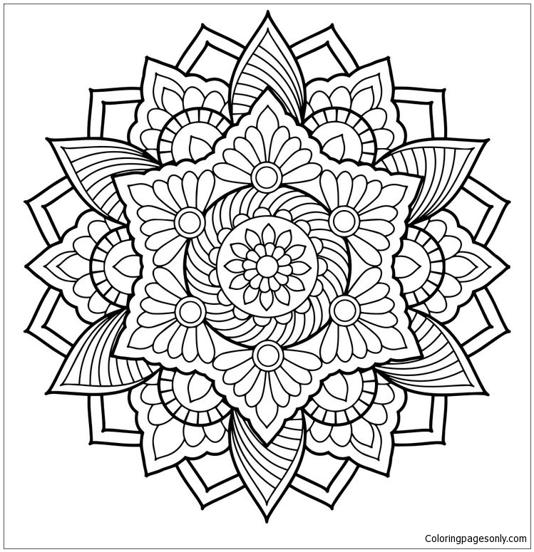 Mandala 16 Coloring Page