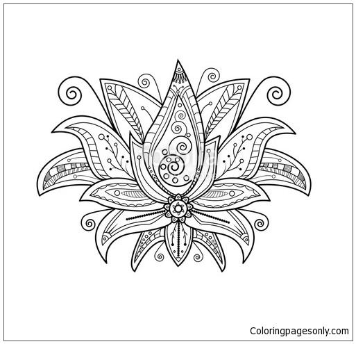 Turtle Mandala Coloring Page