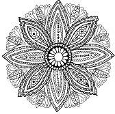 Mandala a colorier feuilles par Olivier