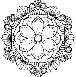 Mandala August Flower Garden