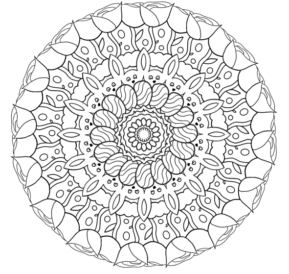 Mandala Easter Surprise Coloring Page