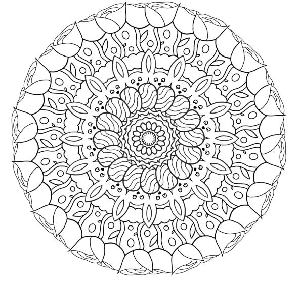 Mandala Easter Surprise Coloring Page
