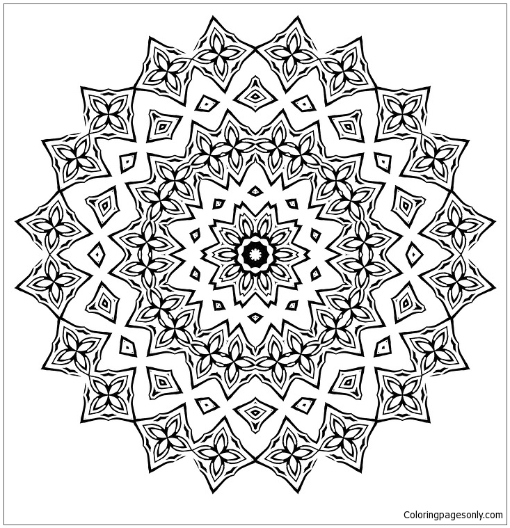 Mandala For Adults Coloring Page