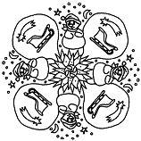 Mandala Noel Coloring Page