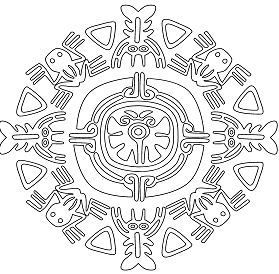 Mandala Of Aztek Animals