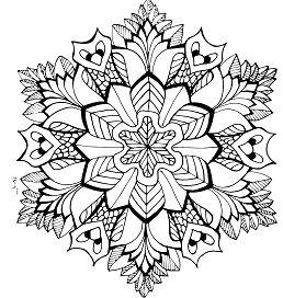 Mandala of Owls Coloring Page