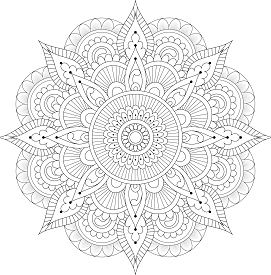 Mandala Only Dreaming Coloring Page