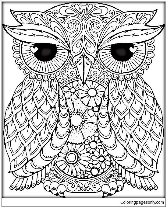 Mandala owl Coloring Page Free