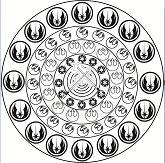 Mandala Star Wars Coloring Page