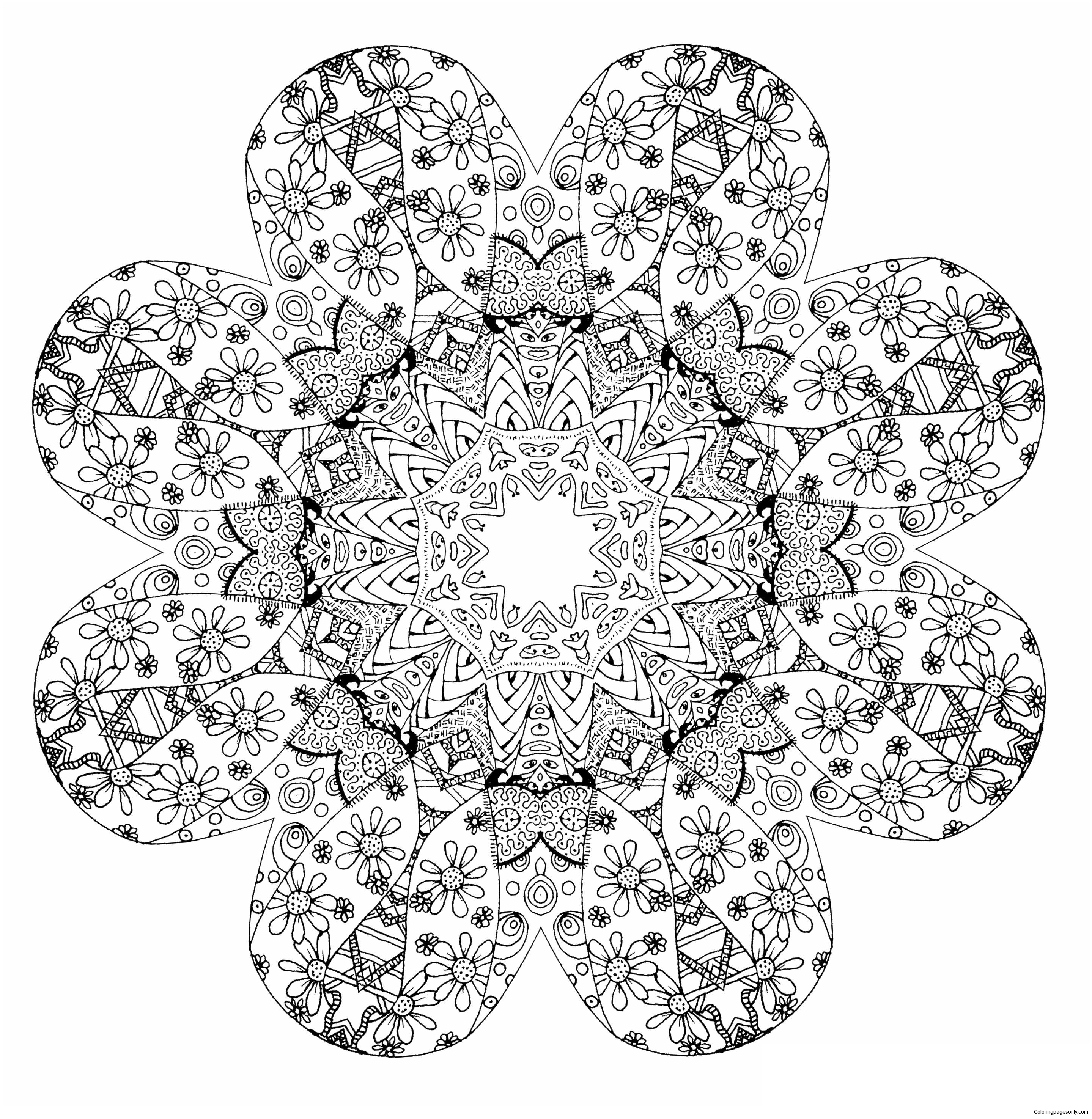 - Mandala Stress Relief Coloring Page - Free Coloring Pages Online