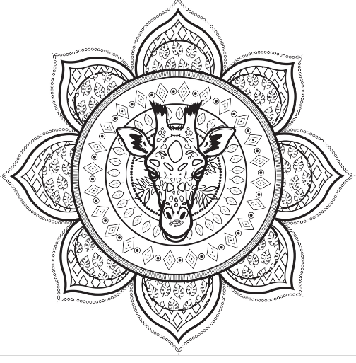 Mandala With A Giraffe