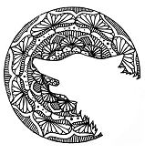 Mandala Wolf Head