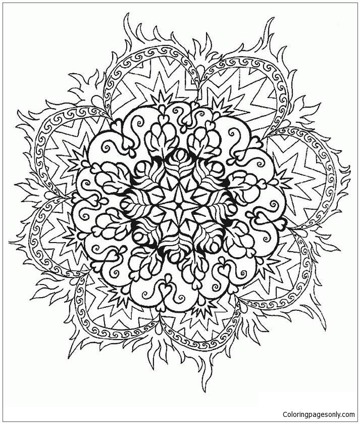 Mandalas 16 Coloring Page