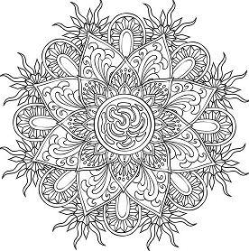 Mandalas 17 Coloring Page
