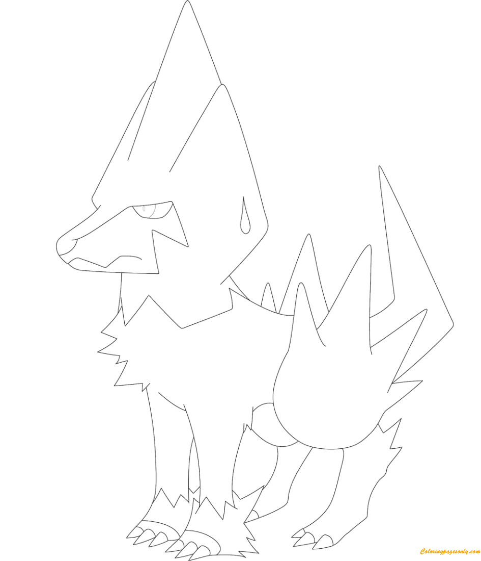 Manectric Pokemon Coloring Page