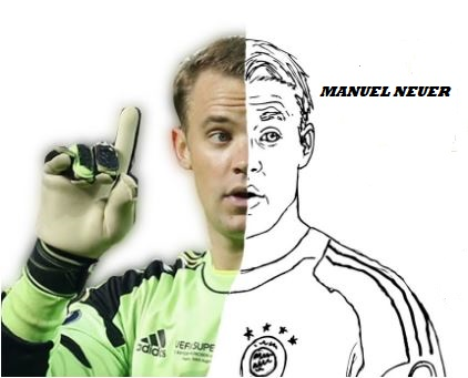 Manuel Neuer Coloring Pages Coloringpagesonly Com