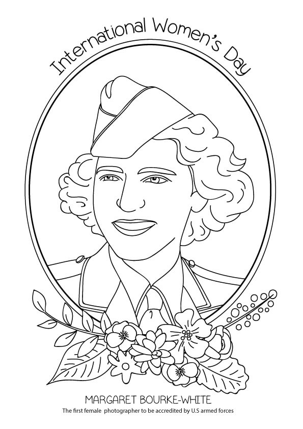 Margaret Bourke White Coloring Page