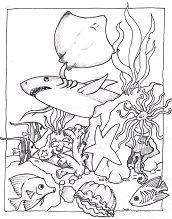 Marine Life Under The Ocean Floor 1 Coloring Page
