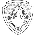 Marshall Badge Coloring Page