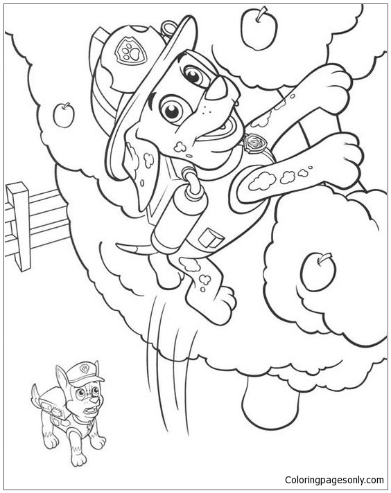 Marshall Paw Patrol Coloring Page