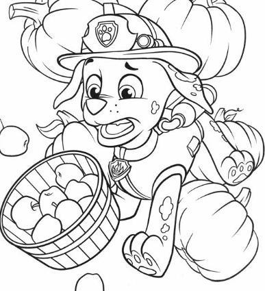 Marshall Thanksgiving Coloring Page