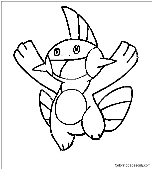 Marshtomp Pokemon Coloring Page