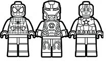 Marvel Super Hero Squad Coloring Page