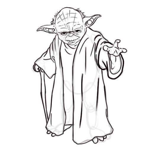 Master Yoda says hi Coloring Pages