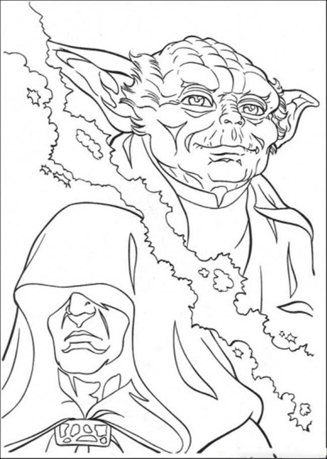 Master Yoda Starwars Coloring Page