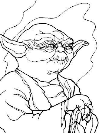 Master Yoda Thumbnail Coloring Page