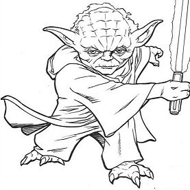 master yoda - Yoda Coloring Pages