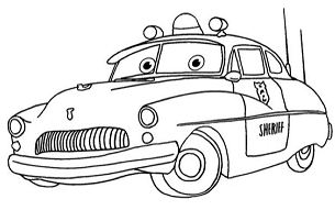 Mater And Sally Carrera Coloring Page