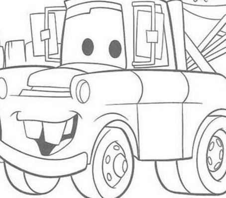 Mater Chevrolet Truck Coloring Page